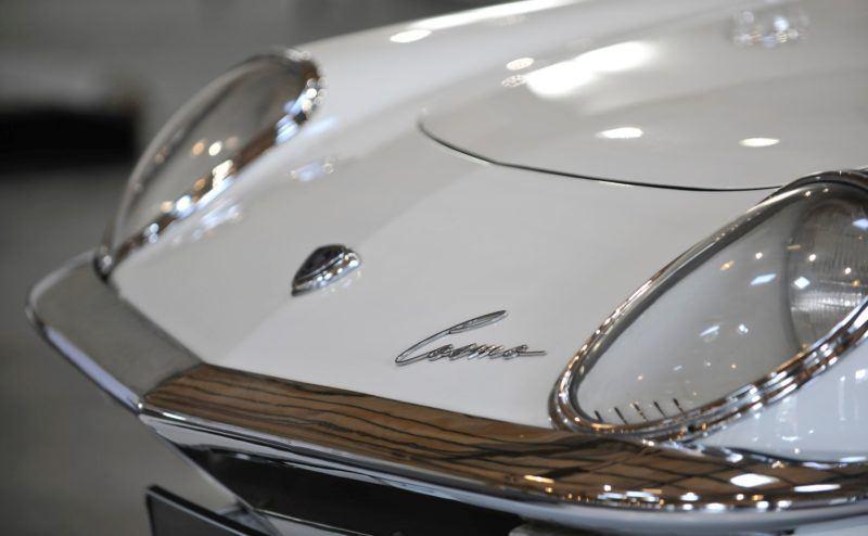 Ein Highlight der Austellung: Einer der wenigen in Europa und Deutschland existierenden Mazda Cosmo Sport Exemplare.