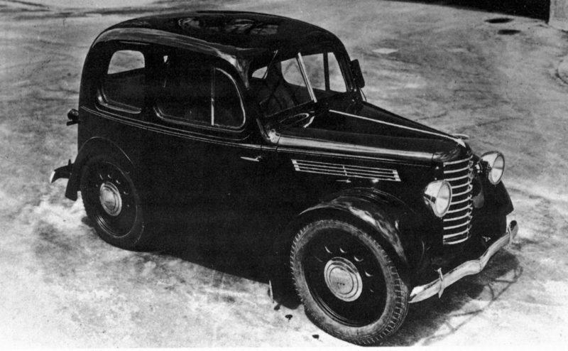 Der erste Mazda PKW Prototyp im Jahr 1940.