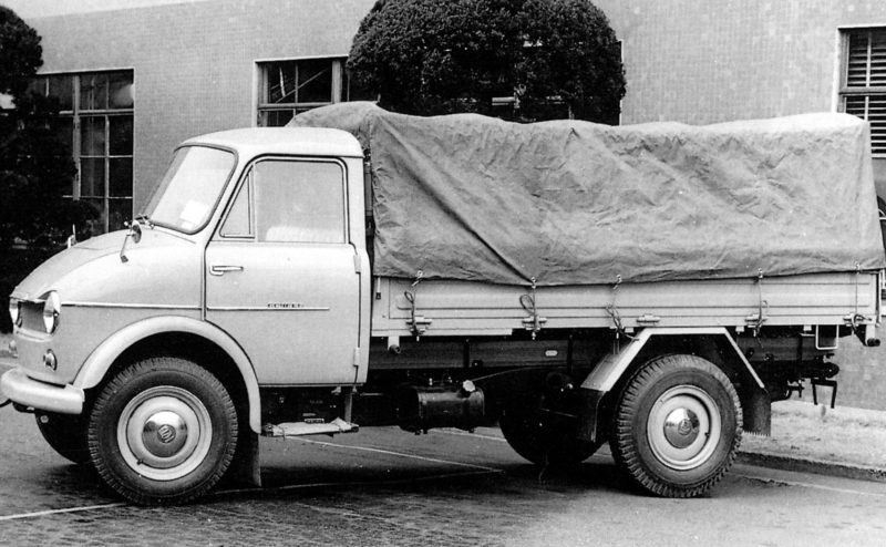 Mazda stellte früher viele Nutzfahrzeugmodelle her. Hier ein Madza Romper von 1958.