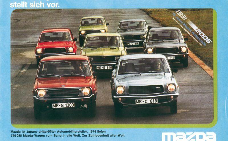 """Mazda Werbung """"zehntgrößter Automobilhersteller"""