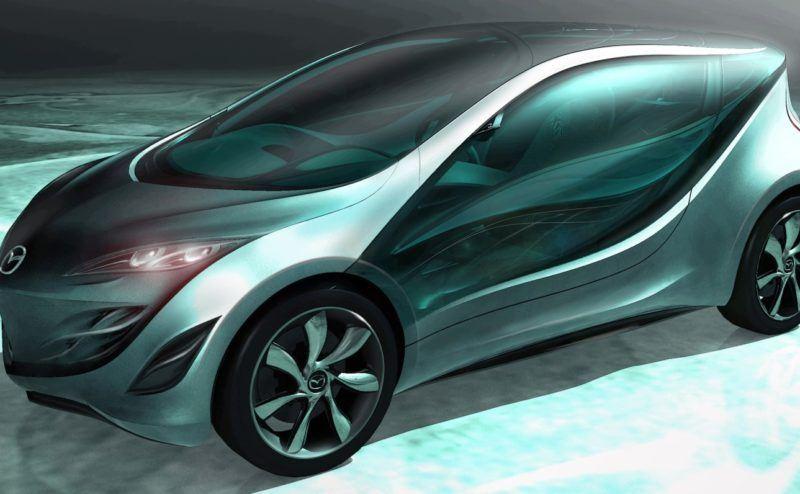 Mazda ist bekannt für spektakuläre Konzeptstudien. Hier der Madza Kiyora der unter anderem das Sustainable Zoom-Zoom Programm visualisiert.