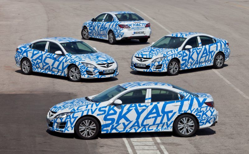 Die Mazda SKYACTIV Prototypen wurden intensiv getestet.