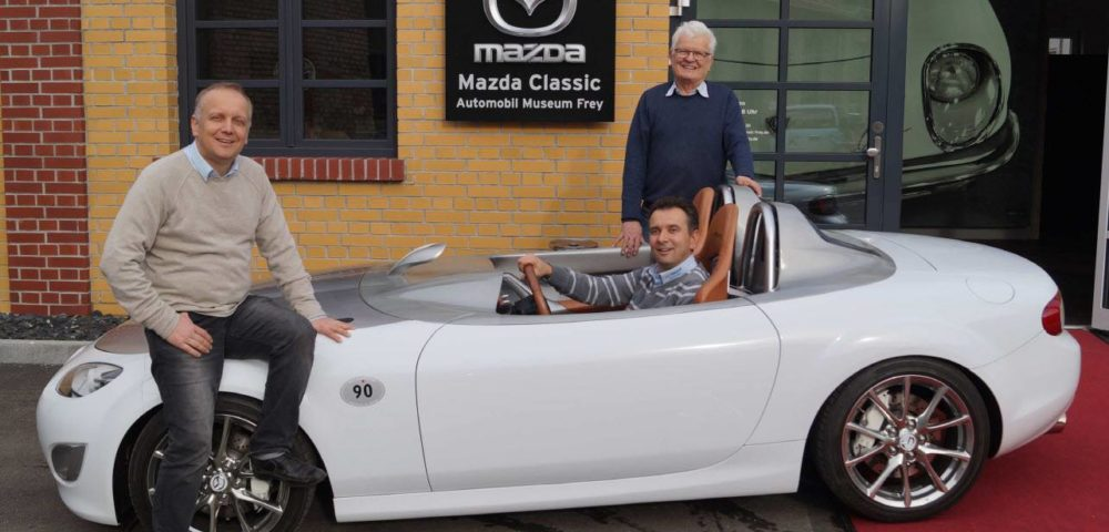 Designstudie Mazda MX-5 Superlight im Museum in Augsburg
